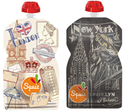 Lot de 2 Gourdes souples SQUIZ Londres/New York